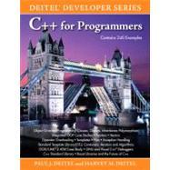 C++ for Programmers by Deitel, Paul; Deitel, Harvey M., 9780137001309