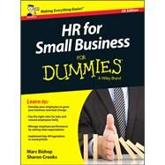 Hr for Small Business for Dummies by Bishop, Marc; Crooks, Sharon, 9781119111320