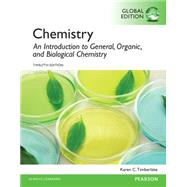 Chemistry: An Introduction to General, Organic, and Biological Chemistry, Global Edition by Timberlake, Karen C., 9781292061320