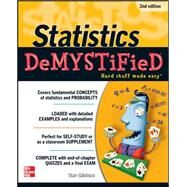 Statistics DeMYSTiFieD, 2nd Edition by Gibilisco, Stan, 9780071751339