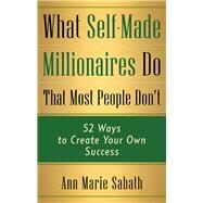 What Self-made Millionaires Do That Most People Don't by Sabath, Ann Marie, 9781632651341