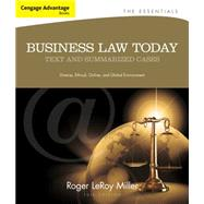 Cengage Advantage Books: Business Law Today, The Essentials Text and Summarized Cases by Miller, Roger LeRoy, 9781133191353