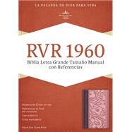 RVR 1960 Biblia Letra Grande Tama�o Manual con Referencias, borravino/rosado s�mil piel by Unknown, 9781433691362