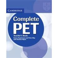 Complete Pet Teacher's Book by Emma Heyderman , Peter May , With Rawdon Wyatt, 9780521741378
