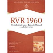 RVR 1960 Biblia Letra Grande Tamaño Manual con Referencias, damasco/coral símil piel by Unknown, 9781433691386