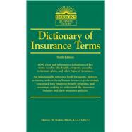 Dictionary of Insurance Terms by Rubin Ph.d., Harvey W., 9781438001395