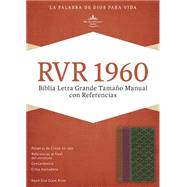 RVR 1960 Biblia Letra Grande Tamaño Manual con Referencias, chocolate/ciruela/verde jade símil piel by Unknown, 9781433691416