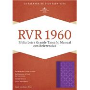 RVR 1960 Biblia Letra Grande Tamaño Manual con Referencias, violeta con plateado símil piel by Unknown, 9781433691447