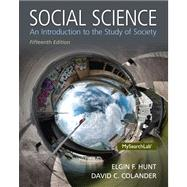 Social Science: An Introduction to the Study of Society by Colander; David, 9780205971459