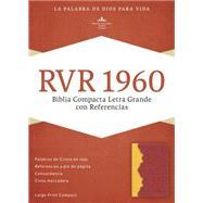 RVR 1960 Biblia Compacta Letra Grande con Referencias, ámbar/rojo ladrillo símil piel by Unknown, 9781433691478