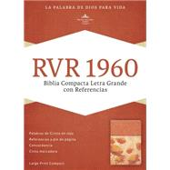RVR 1960 Biblia Compacta Letra Grande con Referencias, damasco/coral símil piel by Unknown, 9781433691485