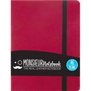 Monsieur Notebook Pink Leather Plain Small by Hide Stationery Ltd., 9781781431498