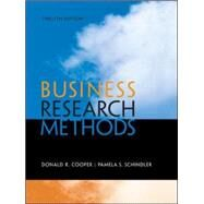 Business Research Methods by Cooper, Donald; Schindler, Pamela, 9780073521503