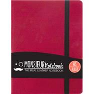 Monsieur Notebook Pink Leather Ruled Small by Hide Stationery Ltd., 9781781431504