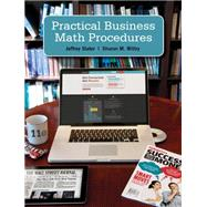 Practical Business Math Procedures with Handbook, Student DVD, and WSJ insert by Slater, Jeffrey; Wittry, Sharon, 9780077701505