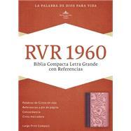 RVR 1960 Biblia Compacta Letra Grande con Referencias, borravino/rosado símil piel by Unknown, 9781433691508