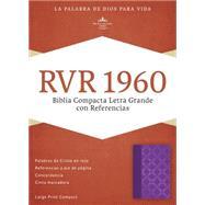 RVR 1960 Biblia Compacta Letra Grande con Referencias, violeta con plateado s�mil piel by Unknown, 9781433691515
