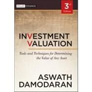 Investment Valuation : Tools and Techniques for Determining the Value of Any Asset by Damodaran, Aswath, 9781118011522