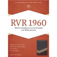 RVR 1960 Biblia Compacta Letra Grande con Referencias, marrón/tostado/bronceado símil piel by Unknown, 9781433691522