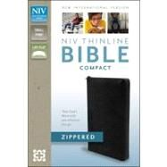 Holy Bible: New International Version, Black, Bonded Leather, Thinline Zippered Collection Bible by Zondervan Publishing House, 9780310411529