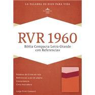 RVR 1960 Biblia Compacta Letra Grande con Referencias, mango/fresa/durazno claro s�mil piel by Unknown, 9781433691546