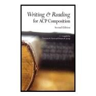 Writing and Reading for ACP Composition by Behrens & Rosen, 9781269321549
