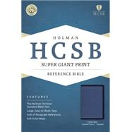 HCSB Super Giant Print Reference Bible, Cobalt Blue LeatherTouch, Indexed by Holman Bible Staff, 9781433691553