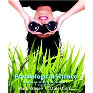 Psychological Science Modeling Scientific Literacy by Krause, Mark; Corts, Daniel, 9780134101583