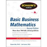 Schaum's Outline of Basic Business Mathematics, 2ed by Don, Eugene; Lerner, Joel, 9780071611589