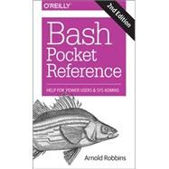 Bash Pocket Reference by Robbins, Arnold, 9781491941591