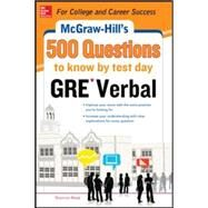 McGraw-Hill Education 500 GRE Verbal Questions to Know by Test Day by Reed, Shannon, 9780071821599