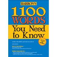 1100 Words You Need to Know by Bromberg, Murray; Gordon, Melvin, 9781438001661