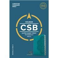 CSB Super Giant Print Reference Bible, Teal LeatherTouch, Indexed by Holman Bible Staff, 9781433651670