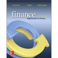 Finance: Applications and Theory by Cornett, Marcia; Adair, Troy; Nofsinger, John, 9780077861681