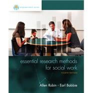 Empowerment Series: Essential Research Methods for Social Work by Rubin, Allen; Babbie, Earl R., 9781305101685