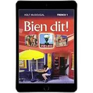 Bien dit! Level 1 Online Student Edition (1-Year Subscription) by HMH, 9780547901688