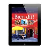 Bien dit! Online Interactive Student Edition 1-Year Level 2 by Holt McDougal, 9780547901701