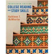 College Reading and Study Skills by McWhorter, Kathleen T.; Sember, Brette M, 9780134111704