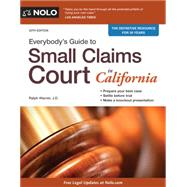Everybody's Guide to Small Claims Court in California 9781413321722N