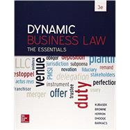 Dynamic Business Law: The Essentials with Connect by Kubasek, Nancy, 9781259621727