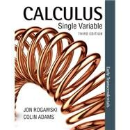 Calculus Early Transcendentals Single Variable by Rogawski, Jon, 9781464171741