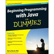 Beginning Programming with Java For Dummies by Unknown, 9780470371749