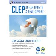 CLEP Human Growth and Development by Heindel, Patricia, Ph.D.; Research and Education Association, 9780738611792
