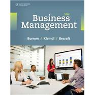 Business Management by Burrow, James L.; Kleindl, Brad; Becraft, Michael B., 9781305661813