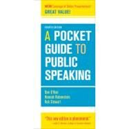 A Pocket Guide to Public Speaking by O'Hair, Dan; Rubenstein, Hannah; Stewart, Rob, 9781457601842