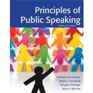 Principles of Public Speaking by German; Kathleen, 9780205211845