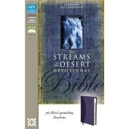 Streams in the Desert Bible: New International Version, Slate Blue, Italian Duo-tone, 365 Thirst-quenching Devotions