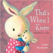 That's When I Knew by Alexander, Claire, 9781472331854