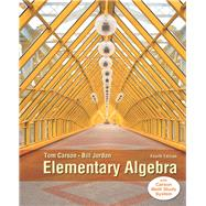 Elementary Algebra, Plus NEW MyLab Math with Pearson eText -- Access Card Package by Carson, Tom; Jordan, Bill E., 9780321951861