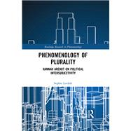 Phenomenology of Plurality: Hannah Arendt on Political Intersubjectivity by Loidolt; Sophie, 9781138631892